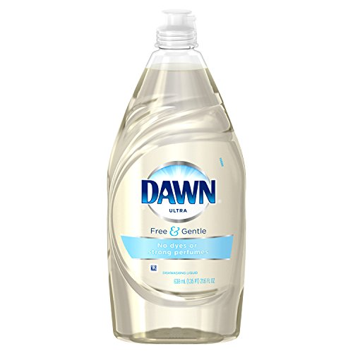 Dawn Free & Gentle Dishwashing Liquid Dish Soap, Sparkling Mist, 21.6 Oz (Dawn Liquid Dish Soap)
