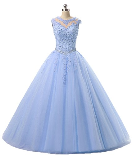 HEIMO Lace Appliques Ball Gown Evening Prom Dress Beading Sequined Quinceanera Dresses Long 2017 H152 4 Lavender