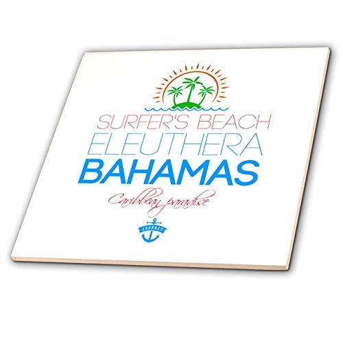 Eleuthera Floor - 3dRose Alexis Design - Caribbean Beaches Bahamas - Surfers Beach, Eleuthera, Bahamas. Summer vacation gift, souvenir - 6 Inch Glass Tile (ct_318386_6)