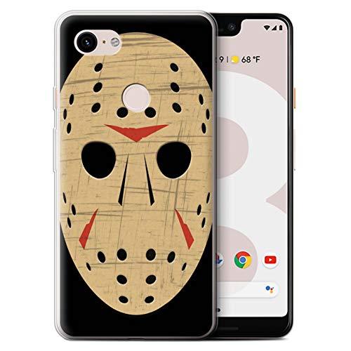 STUFF4 Gel TPU Phone Case/Cover Google Pixel 3 XL/Jason Vorhees Mask Inspired Design/Horror Movie Art Collection ()