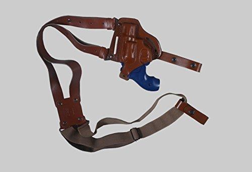 - KHS335 Horizontal Shoulder & Belt Slide Holster RH Fits Smith&Wesson J- Frame Handmade! (Brown)