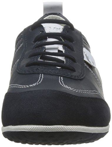 D A Womens Sneakers Shoes Vega Navy Leather Geox vqdSnS
