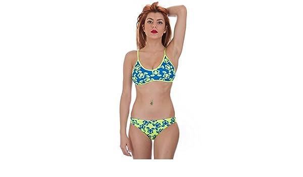 Turbo - Bikini Ranita Flour Profesional Señora Natacion Top + Slip de Entrenamiento Competicion Tira Estrecha: Amazon.es: Deportes y aire libre