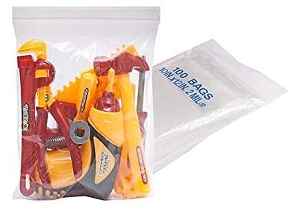 Amazon.com: Paquete de 100 bolsas de plástico transparente ...