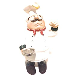 fat Chef Kitchen Statues with egg on Head table top Art figurine D64115C