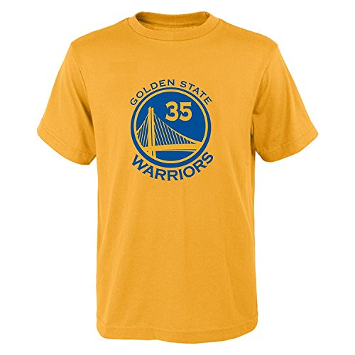 Outerstuff Kevin Durant Golden State Warriors #35 NBA Youth Name & Number T-Shirt Gold (Youth X-Large 18) -