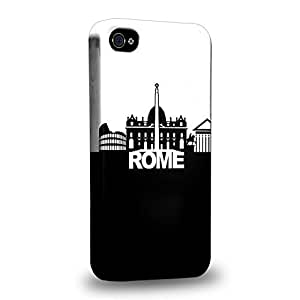 Diy iphone 5 5s case The most popular Art Rome Black And White Skyline Protective Snap-on Hard Back Case Cover for Apple iPhone 5 5s