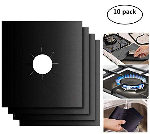 Gas Stove Burner Covers 10 Pack- XZSUN 0.2mm Double Thickness
