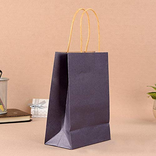 Haga Party Bag Paper Bag with Handles Sweet Color for Halloween Wedding Birthday Party Jewelry Festival Gifts Candy Paper Bags Blue 21x15x8cm -