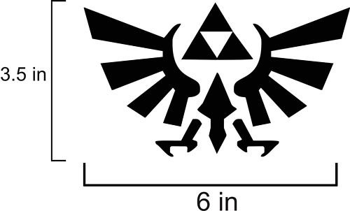 Legend Of Zelda Triforce Logo Vinyl Wall Art Decal