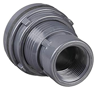 Gray Schedule 80 Spears 8171 Series PVC Bulkhead Tank Adapter 1//2 Socket x NPT Female