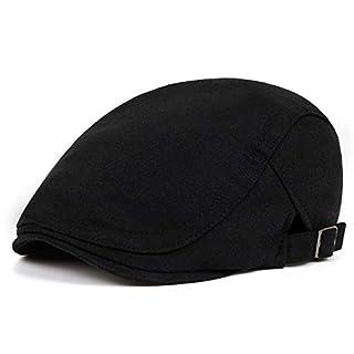 VORON Newsboy Hats for Men Cotton Flat hat Adjustable Newsboy hat Autumn and Winter Ivy Gatsby Driving hat Hats for Men (Black)