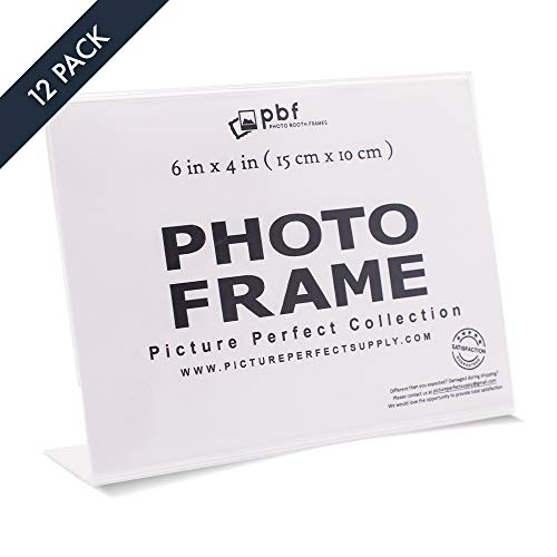 Pack of 6x4 Acrylic Picture Frames, Sign Holders Acrylic Photo frame horizontal (12) (Picture Frame Large Plastic)