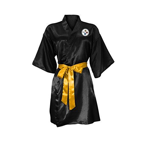 NFL Pittsburgh Steelers Satin Kimono, Small/Medium