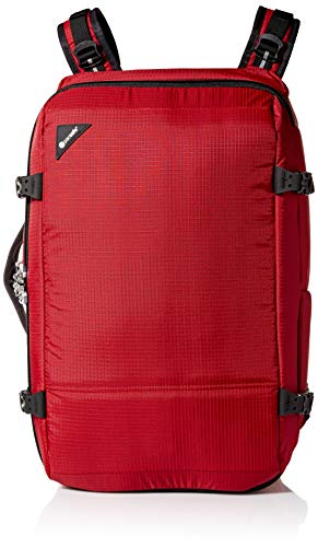 Pacsafe Vibe 40 Liter Anti Theft Carry-On Backpack/Travel Bag - Fits 15 inch Laptop, Goji Berry