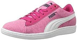 PUMA Women's Vikky Jersey Sfoam Fashion Sneaker, Peacoat/Peacoat, 6.5 M US