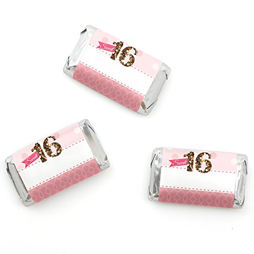 Sweet 16 Birthday Wrappers Favors