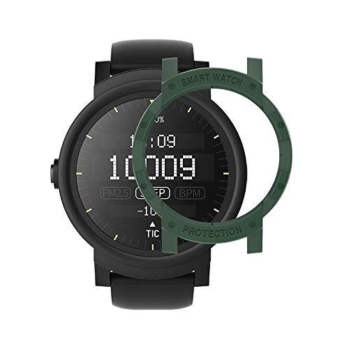 Ticwatch E Case SIKAI Anti-Scratch Protective Bumper Cover Ticwatch E Smart Watch Ultra Light Multi-Colors (Blackish Green) from Sikai