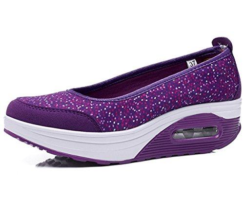 Zicoope Damen Athletic Casual Slip-On Toning Sneaker Wanderschuh Lila