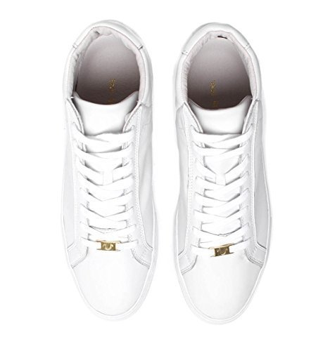 Gold Nappa Footwear - True Religion Men's HEX V1 High Top Leather Shoes (11 US, White)