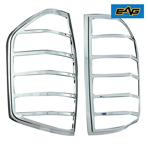 EAG Chrome Taillight Lamp ABS Cover Bezel Trim Kit Fit for 2014-2016 Toyota Tundra