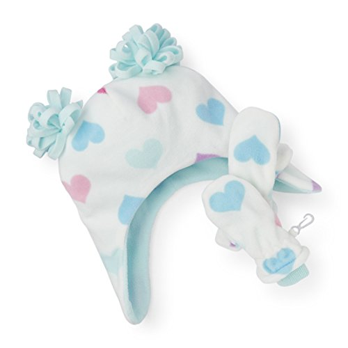 The Childrens Place Girls Hearts Microfiber Cold Weather 3 Piece Set