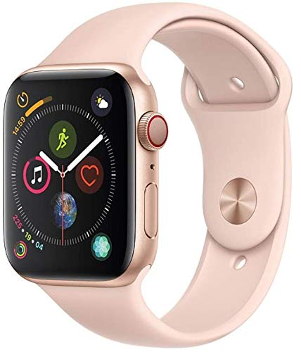 (Apple (2018) Apple Watch Series 4 GPS + Cellular, 40MM Gold Aluminum Case with Pink Sand Sport Band)