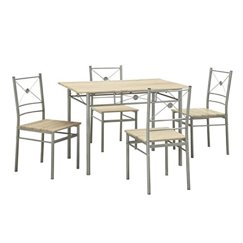 Bowery Hill 5 Piece Dining Set in Taupe
