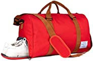 RoLekim Sports Gym Bag with Shoes Compartment Duffel Bag Unisex Large Weekender Bag Packable