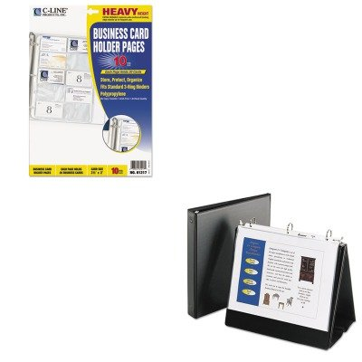 - Value Kit - Avery Easel Binder with Round Ring (AVE12880) and C-line Business Card Binder Pages (CLI61217) (Easel Business Binder)