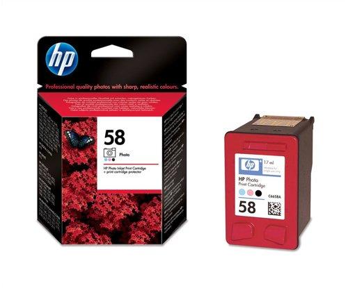 (Hewlett Packard [HP] No. 58 Inkjet Cartridge Page Life 125 Photos/390pp 17ml Photo Colour Ref C6658AE)