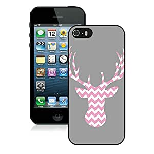 Individualization Chevron Iphone 5S Protective Cover Case Christmas Deer iPhone 5 5S Case 1 Black