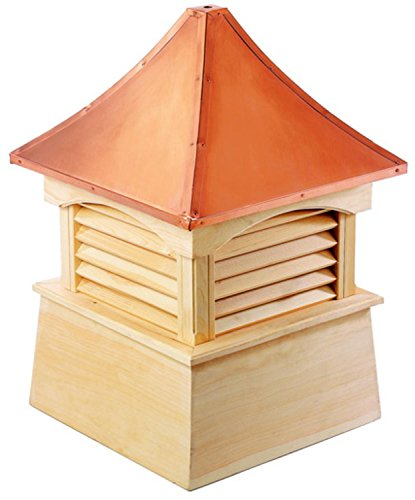 105'' Handcrafted ''Waterford'' Copper Roof Wood Cupola by CC Home Furnishings