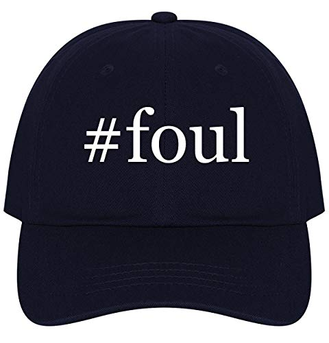 The Town Butler #Foul - A Nice Comfortable Adjustable Hashtag Dad Hat Cap, Navy ()