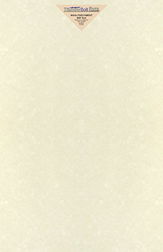 "50 Soft White Parchment 60lb Text Weight Paper - 11"" X 17"" (11X17 Inches) Tabloid