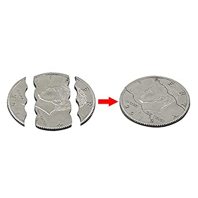 Enjoyer Three Folding Bite Coin Dollars Magic Tricks Close-Up Street Magic Gimmicks Stage Illusion and Restored Toys: Toys & Games