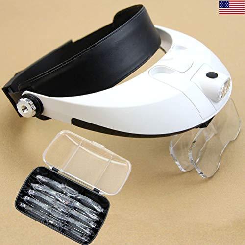 HAWK OPTICALS MG9008 2 LED Head Magnifier