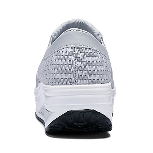 Respirantes Fitness Sport de Choc Marcher Running Casual Compensées Anti Femme Chaussures Gym Baskets aZUqvnIW6q