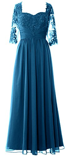 Dress Macloth Sleeves Evening Lace Half Gown Of Bride Formal Mother Teal 2019 Women 0w6r0P