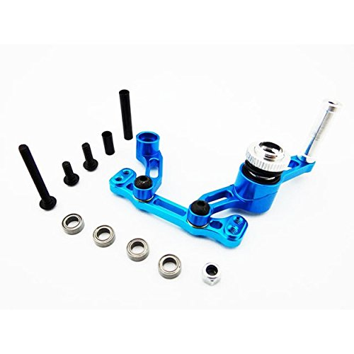 Hot Racing ECT4806 Aluminum Bellcrank Steering Saver with Bearings (Blue) - ECX