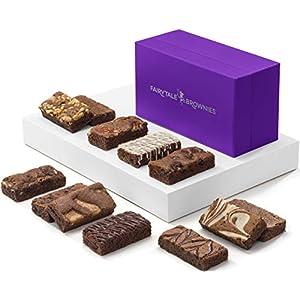 Fairytale Brownies Sprite Dozen Gourmet Chocolate Food Gift Basket – 3 Inch x 1.5 Inch Snack-Size Brownies – 12 Pieces – Item HF212