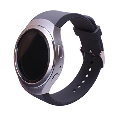 Silicone Watch Band Strap For Samsung Galaxy Gear S2 SM-R720(Black) - 3