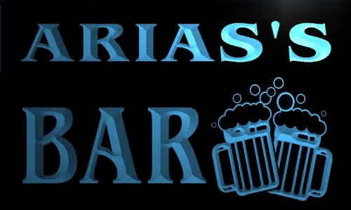 Aria Mug - w000787-b ARIAS'S Name Home Bar Pub Beer Mugs Cheers Neon Light Sign