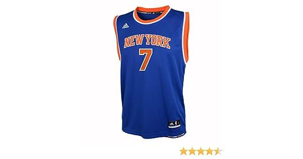 7ac380975 Amazon.com : NBA Toddler New York Knicks Anthony Away Replica Jersey-Blue-2T  : Sports Fan Jerseys : Clothing