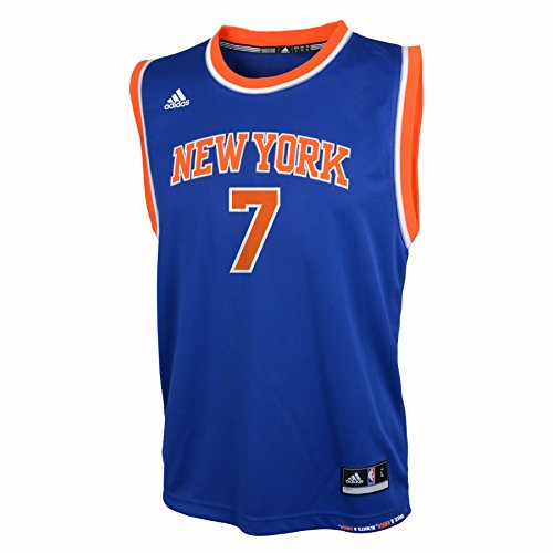 OuterStuff NBA Youth 8-20 New York Knicks Anthony Replica Road Jersey-Blue-M(10-12)