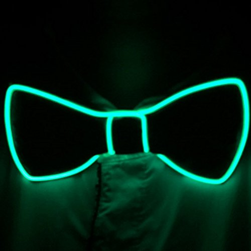 Denshine Bow Tie, Bow Ties for Men/Boys LED Light Up Bow Tie Voice-Activated Drive Bow Tie for New Years/Christmas/Halloween Party 2018 Newest Novelty Bow Ties (Green)
