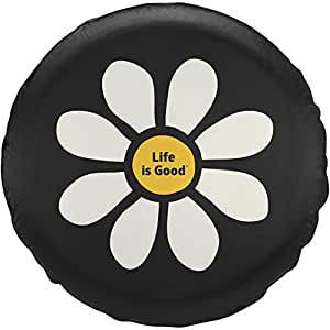 Life is good New Daisy Lig Tire Cover, Night Black, 28""
