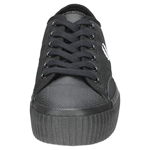Coated Black Perry Flatform Canvas Low Fred Hughes White qf6wPIWUx