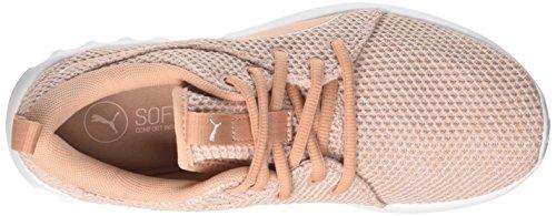 Damen Pink 2 Carson Trainer Puma Beige peach Knit Cross Nature Pearl WN's Hdqwx8fn
