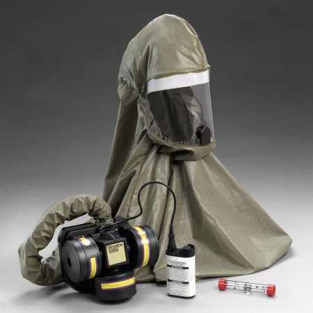 3M Breathe Easy FR-57L10 HEPA PAPR & SAR Assembly - Assembly with Headpiece - Belt-Mounted - 8 hr Li-Ion - 70071040284 [PRICE is per EACH]